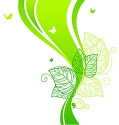 back doodle floral green vector image