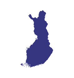 finland map silhouette vector image