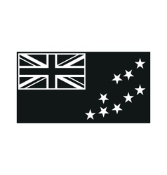 Flag of Tuvalu monochrome on white background vector image vector image