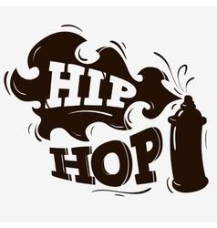 Hip Hop Label Design With A Spray Balloon vector image