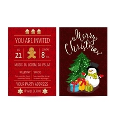 Personal Offer to Join Corporate Christmas Party vector image vector image