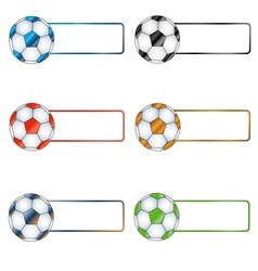 Six multi-colored balls vector image