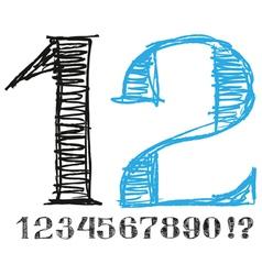 Sketch Alphabet New 05 vector image vector image