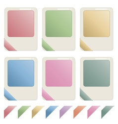 blank id icons vector image vector image