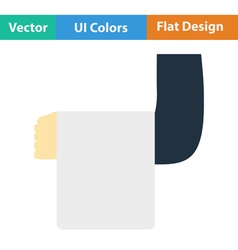 Flat design icon of Waiter hand with towel vector image vector image