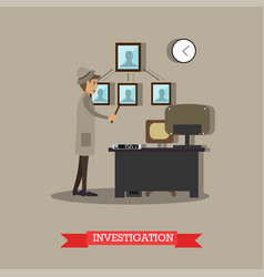 Investigation in flat stile vector
