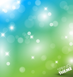 Spring abstract background vector image