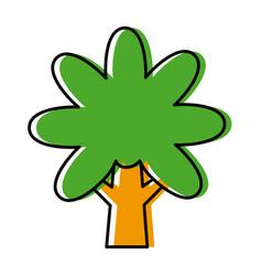 tree nature symbol vector image vector image