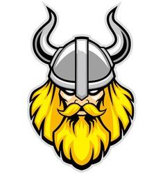 Viking warrior head mascot vector