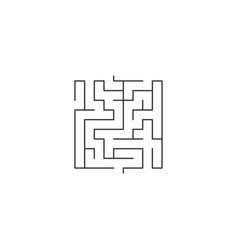 abstract maze labyrinths in shape square vector image