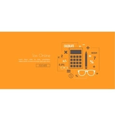 Accounting and taxes vector