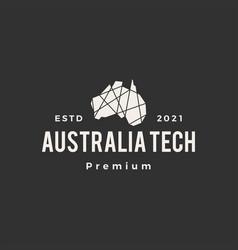 australia geometric polygonal tech hipster vector image