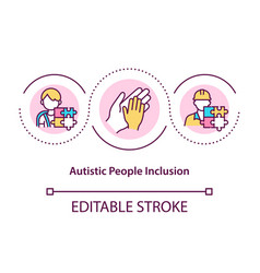 Autistic people inclusion concept icon vector