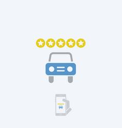 Automotive rating icon vector