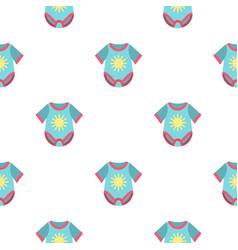 Baby bodysuit pattern flat vector