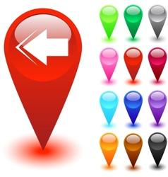 Back arrow button vector image