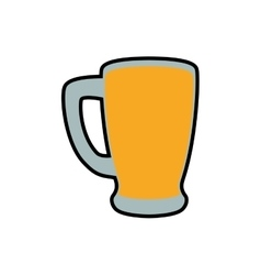 Beer glass icon Drink and alcohol design vector image