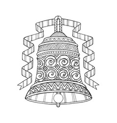 Bell coloring book vector