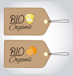 Bio organics labels vector