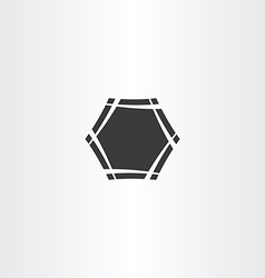 black hexagon frame icon sign vector image