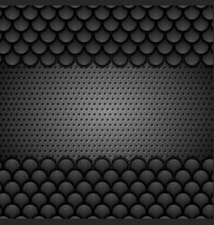 Black metallic perforated monochrome texture vector