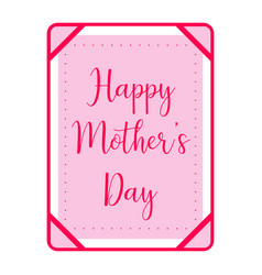 Card with text mother day vector