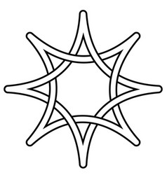 celtic knot star intertwining rays star vector image