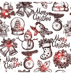 Christmas Monochrome Seamless Pattern vector