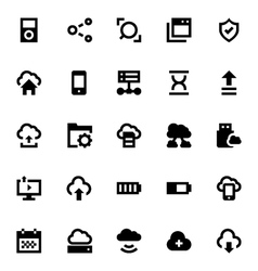 Cloud Data Technology Icons 6 vector image