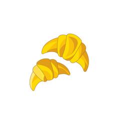 color croissants icon vector image