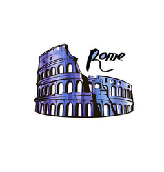 colosseum rome picture vector image