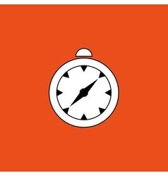 Compass design flat vector