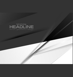 contrast black and white stripes corporate vector image
