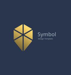 cube geotag or location pin logo icon design vector image