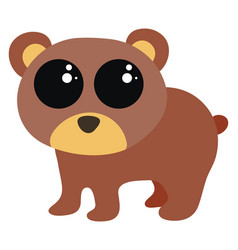 cute little bear on white background vector image
