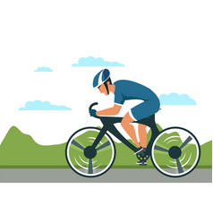 cycle sport flat isolated on vector image