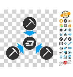 dash mining pool icon with bonus vector image