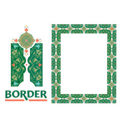 Decorative framework borders vector