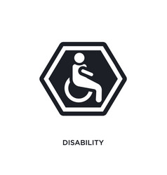 Disability isolated icon simple element from vector