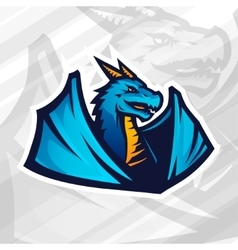 Dragon logo concept Football or baseball mascot vector