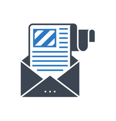 e-mail marketing glyph icon vector image