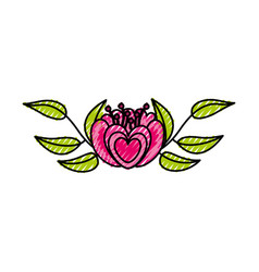Elegant flower decorative icon vector