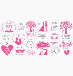 elements design valentines day vector image