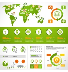 Energy infographics layout template vector image