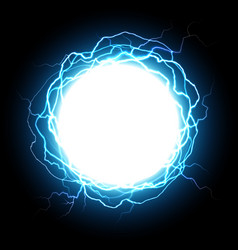 energy sphere electric plasma ball explosion vector image