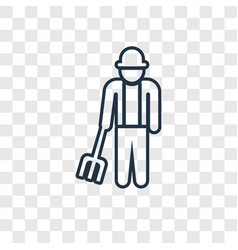 farmer concept linear icon isolated on vector image