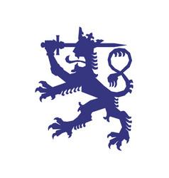 Finland animal symbol vector