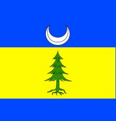 Flag of saint-claude in jura of franche-comte is vector