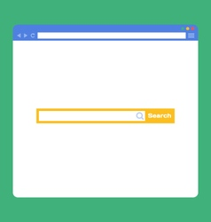 flat browser window with search bar vector image