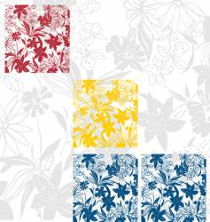 flower panels vector image